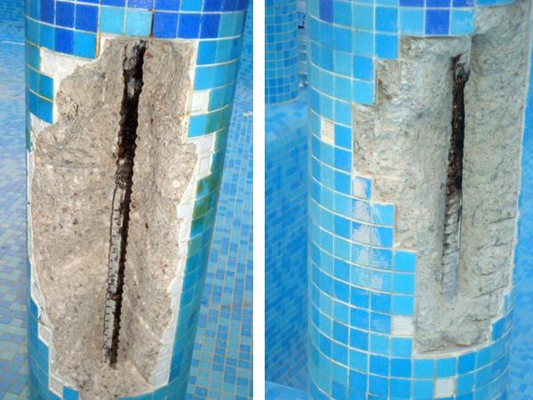 Reparaci n de piscina reformas novodeco reformas en for Productos sika para piscinas