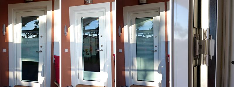 Colocaci n de puerta de aluminio y cristal reformas - Puerta de aluminio con cristal ...