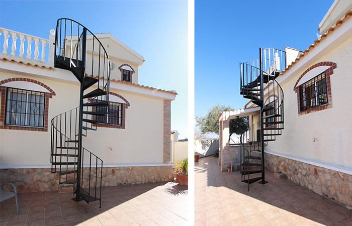La casa de las escaleras alicante escaleras a la casa de for La casa de las escaleras de aluminio