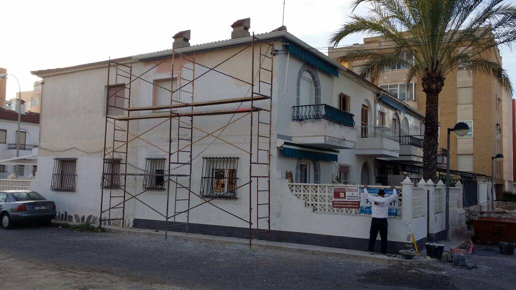 Fachada de monocapa en santa pola reformas novodeco for Repsol butano santa pola
