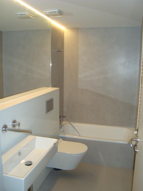 Muebles De Baño Alicante:Mueble de baño con estructura de cartón yeso Pladur suspendido en el